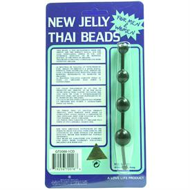 JELLY THAI ANAL BEADS, BLACK