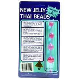 JELLY THAI ANAL BEADS, LAVENDER